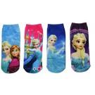 Цветни памучни чорапки с Елза и Анна