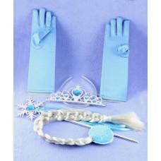 Корона,плитка,жезъл и ръкавици на Елза от замръзналото кралство
