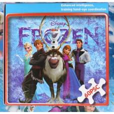 Пъзел с всички герои от Замръзналото кралство-60 части